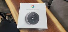 Google Nest Learning Thermostat - 3RD GENERATION - Stainless Steel - OPEN BOX