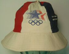 Vtg 1980s 1984 Usa Summer Olympics La Red White Blue Bucket Hat Michael Jordan