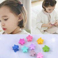 10X Small Plastic Flower Hair Clips Hairpin for Kids Girls Claws Fast