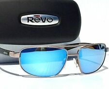 NEW* REVO WRAITH AVIATOR Gunmetal w Blue POLARIZED Lens Sunglass 1018-00