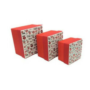 KISS SMALL GIFT BOXES 1 SET OF 3 BOXES BIRTHDAY`S/ CHRISTMAS / VALENTINES