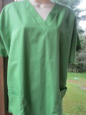 Cherokee Brand SCRUB TOP Size Medium   Solid Olive Green Color