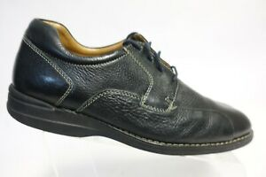 JOHNSTON & MURPHY Shuler Black Sz 11 M Men Leather Lace-Up Oxfords
