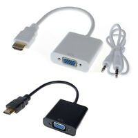 1080P HDMI Male To VGA Female Converter Adapter With Audio USB Cable ForComputer