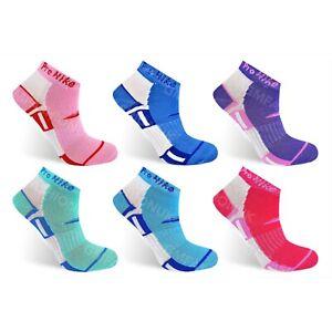 3 Pairs Ladies Trainer Ankle Liner Sports Gym Yoga Run Socks Womens Girls