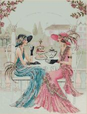 Art Deco Ladies Counted Cross Stitch COMPLETE KIT No. 1-224