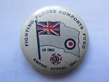 WORLD WAR II FFCF FIGHTING FORCES COMFORTS FUND EMPIRE APPEAL AIR FORCE BADGE
