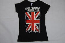 RAGE AGAINST THE MACHINE UNION JACK LADIES SKINNY T SHIRT SML NEW OFFICIAL RATM