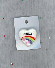 Rainbow & Hearts Fashion Pin Brooch Personalized SHELLY - Stocking Stuffer