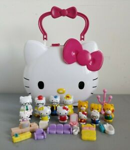 Hello Kitty Case with Mini Figures & Tiny Furniture  Accessories Bundle