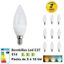 Bombilla LED C37/ E14 3W 4W 6W 7W Packs de 5 ó 10 Unidades Mejor precio