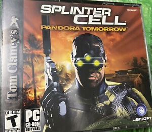 Tom Clancy's SPLINTER CELL Pandora Tomorrow - PC GAME case with 3 DISC