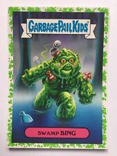 Garbage Pail Kids Oh The Horror Sticker 1b 80's Sci-Fi Sticker Swamp Bing Green