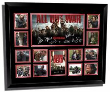 THE WALKING DEAD SEASON 8 ALL OUT WAR SIGNED LIMITED EDITION FRAMED MEMORABILIA