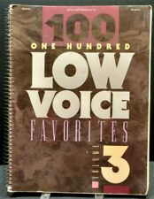 100 Low Voice Favorites Vol 3 Sheet Music Song Book Gospel Religious 1990s T19
