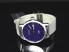 Haurex Italy Women's 2A363DP1 Leaf Silver Band Purple Dial w/ Date Watch