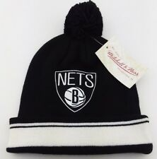Brooklyn Nets NBA Knit Pom Beanie/Winter Hat/Hardwood Classic/Mitchell & Ness