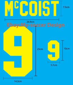 McCOIST #9 Scotland Home EURO 1996 FLOCK VELVET NAME NUMBER PRINT