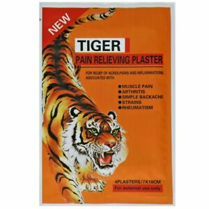 1 X TIGER Pain Relieving Patches For Relief of Aches Muscles Arthritis Strains