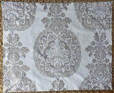 Pottery Barn Ivory On Gray Floral Print Standard Pillow Sham.
