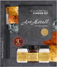 Starterset vergolder-set completo-hoja de oro de imitación-golpe metal dorar