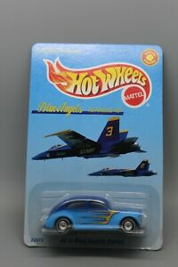 HOT WHEELS US NAVY BLUE ANGELS FAT FENDERED '40 #22073 FROM 1998 NOC