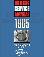 1965 Buick Clamshell Headlight Shop Manual Riviera Repair Service Clam Shell