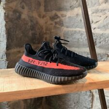 Adidas Yeezy Boost 350 V2 Core Black Red Stripe Sneakers - MEN 6 US WOMEN 8 US