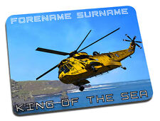 Personalised Sea King Mouse Mat / Desk Mat - Search & Rescue / Nautical Theme