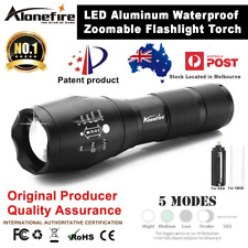 LED Aluminum Waterproof Zoomable Flashlight Torch Light Cree AloneFire 5000LM