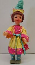 "Vintage 21"" Russian Ussr Soviet Factory Doll Hypnotic Eyes Traditional Dress"