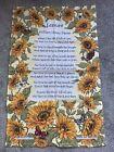 LEISURE WILLIAM HENRY DAVIES Poem Tea Towel - Perfect Gift NWOT