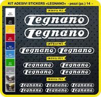 Adesivi Bici LEGNANO Kit adesivi stickers 14 Pezzi bike cycle pegatina Cod.0102