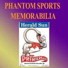 2012 SYDNEY SWANS GRAND FINAL PREMIERS PREMIERSHIP WEG KNIGHT POSTER ADAM GOODES