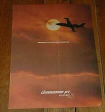 Vintage Rare Jet Commander 1123 Commodore Jet Brochure 1971