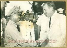 US Navy Minister Paul B Fay with Gen Lê Văn Tỵ & VN Navy Commander Hô Tấn Quyền