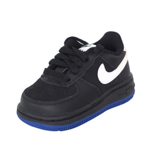 Nike Air Force One TD 314194 041 Toddler Shoes Black Sneakers Vintage Leather DS