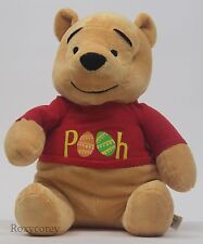 "Disney Winnie The Pooh 14"" Easter Spring Pooh with Easter Eggs Soft Plush Toy"