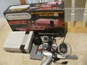 First print Action Set nes nintendo system complete in box original pieces