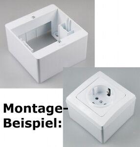 CT20424 DELPHI Aufputz-Rahmen weiß für Steckdose oder Schalter