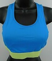 RBX Women's Blue Racerback Sports Bra Size Medium Free Shipping