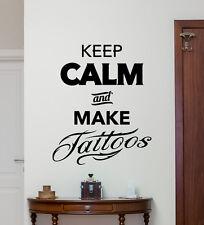 Make Tattoos Wall Decal Salon Studio Poster Vinyl Sticker Art Decor Mural 76bar