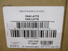 Timothy's World Coffee Chai Latte K-Cup 96 Count