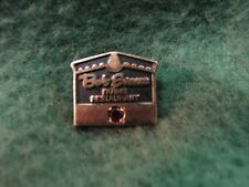 Gorgeous Bob Evans Employee Appreciation Service Pin  Gold Filled W/ Ruby