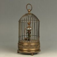 European Style Mechanical Clock Horologe- Exquisite Brass Birdcage Shape