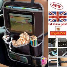 Seat Car Organizer Back Seat Tablet holder Travel Storage Bag Multi Pocket 1680D