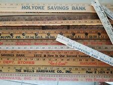 Yardstick LOT of 12 Wood Wooden Ruler Advertising Sign Art Craft Hobby VARIOUS