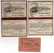 Internal Revenue Service IRS Obsolete Pocket Commissions Badges + Prohibiition
