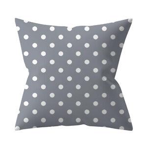 Grey and white spots cushion cover, soft fine fabric, modern, polka dot, spotty