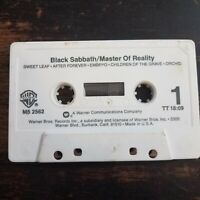 Black Sabbath - Master Of Reality Cassette Tape Only Audio 1971